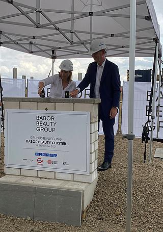 Baustart für 60 Millionenprojekt der Babor Beauty Group